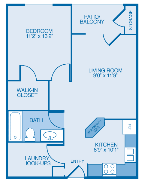 Floor Plan  Auberndale Floor Plan at Maple Brook Apartments, Louisville, KY, 40241
