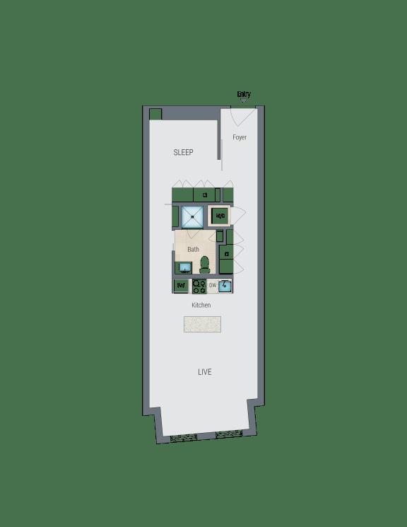 A1A Floor Plan at Reed Row, Washington, 20009
