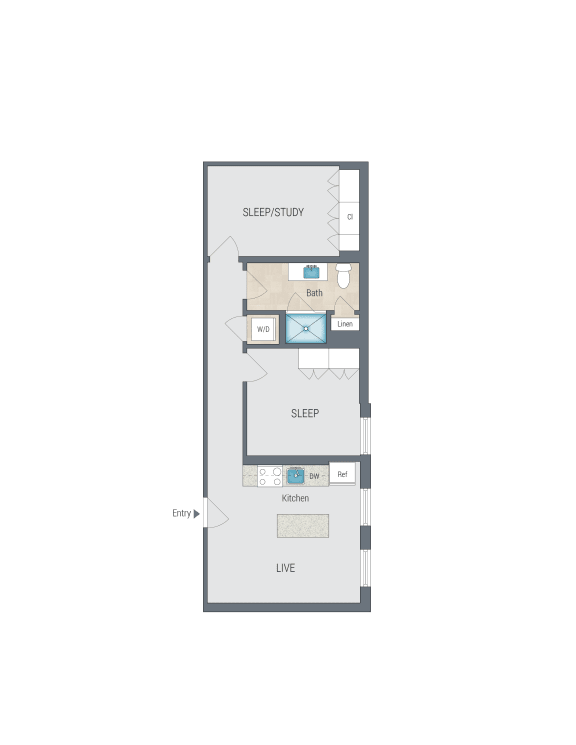 B1 Floor Plan at Reed Row, Washington