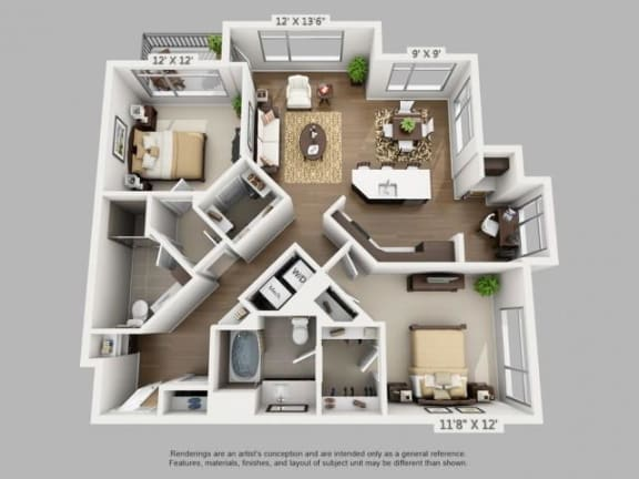 Floor Plan  2 Bed 2 Bath Discover Floor Plan at ALARA Union Station Apartment Homes, CO, 80202