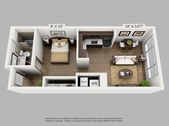 Floor Plan  Trek Floorplan at ALARA Union Station Apartment Homes, California, 80202