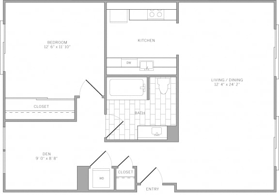 A2 Floor Plan at AVE Emeryville at Bay Street, Emeryville