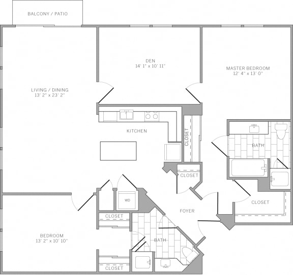 B5 Floor Plan at AVE Emeryville at Bay Street, Emeryville, CA, 94608