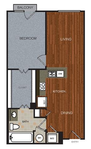 A2 Floor Plan at Berkshire Riverview, Texas