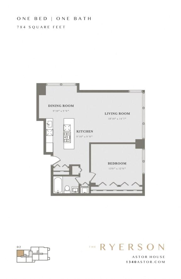 Astor House Floor Plan - The Ryerson