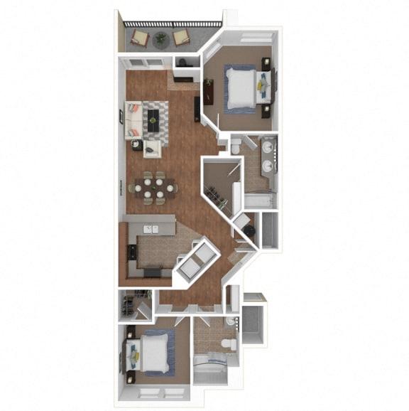 Floor Plan  Zoom of The Malaga floor plan at Legends at Rancho Belago