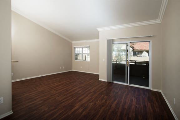 Wood style plank flooring at Legends at Rancho Belago, California 92553