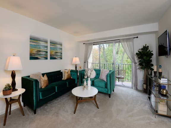 Private balcony or patio with each apartment at Village of Pine Run