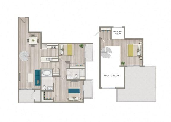 Floor Plan  Luxe Villas (Unit 608)