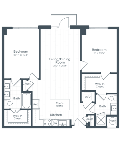 B4 Floor Plan at Highgate at the Mile, McLean, 22102