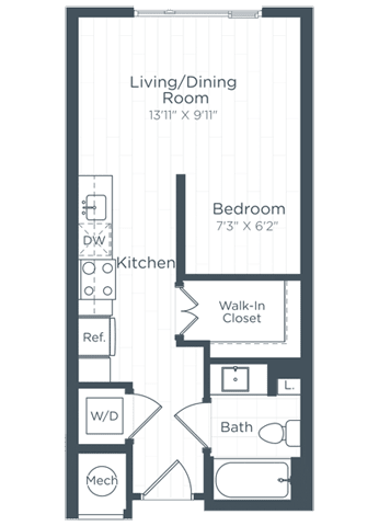 S1 Floor Plan at Highgate at the Mile, Virginia