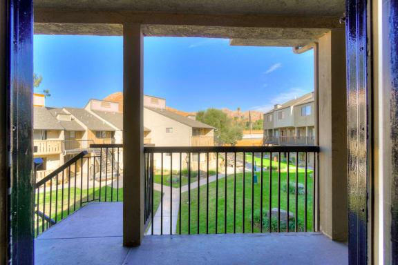 Private Apartment Balcony at Highlander Park Apts, California, 92507