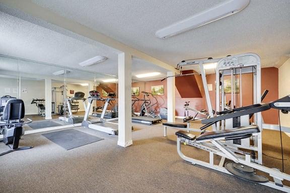 Fitness Center at Highlander Park Apts, California