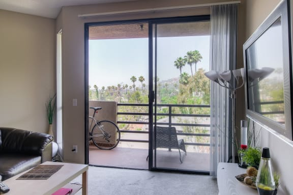 Private Balcony With Seating at Hollywood Vista, California
