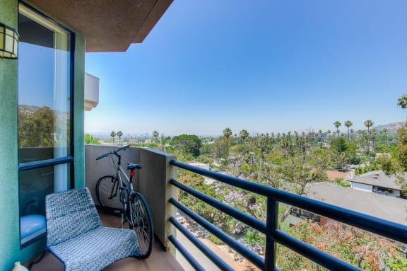 Private Patio And Balcony at Hollywood Vista, Hollywood, California