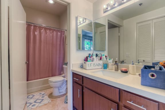 Updated Bathrooms With New Vanities And Tile at Hollywood Vista, Hollywood, 90046
