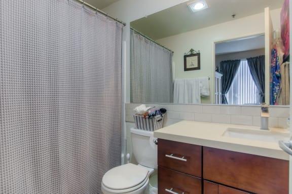 Designer Granite Counter-tops In All Bathrooms at Hollywood Vista, California