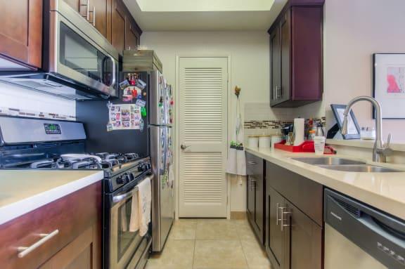 Efficient Appliances In Kitchen at Hollywood Vista, California, 90046