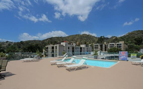 Refreshing  Swimming Pool at La Vista Terrace, California, 90046