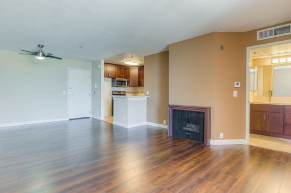 Living Room Remodel With Standard Fireplace at La Vista Terrace, Hollywood, 90046