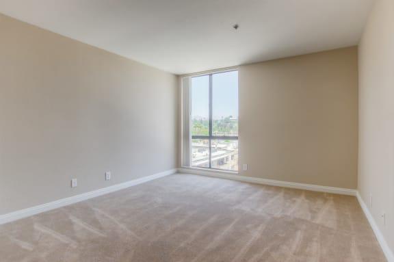 Carpeted Bedroom at La Vista Terrace, Hollywood, CA