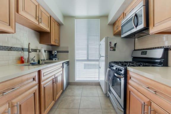 Integrated appliances at La Vista Terrace, California