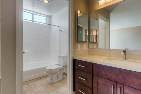 Bathroom with Bathtub at La Vista Terrace, Hollywood, California