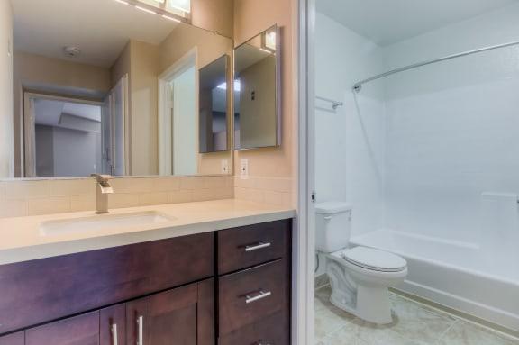 Bathroom with Storage at La Vista Terrace, Hollywood