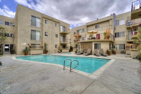 Swimming Pool at Park Merridy, Northridge, CA