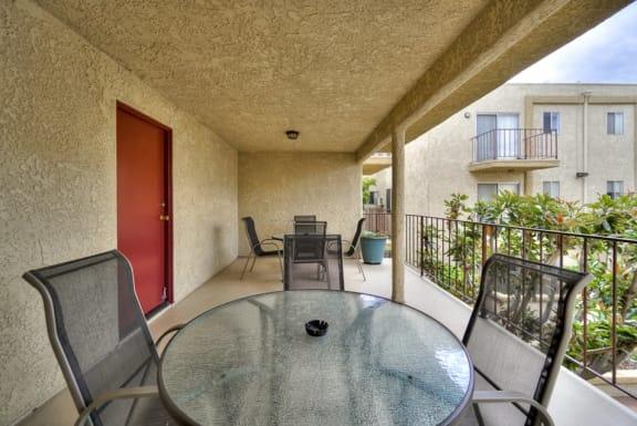 Balcony at Park Merridy, Northridge, CA