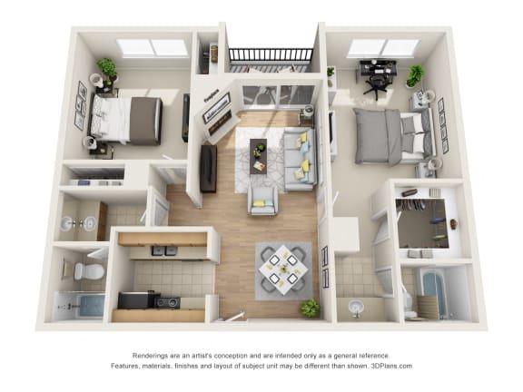 Floor Plan  Floor Plan at Park Merridy, Northridge, CA