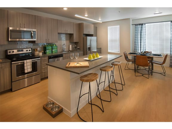 Chef Inspired Kitchen Islands at Cycle Apartments, Ft. Collins, 80525
