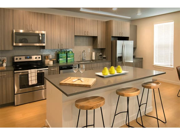 Sleek Interior Finishes at Cycle Apartments, Ft. Collins, Colorado