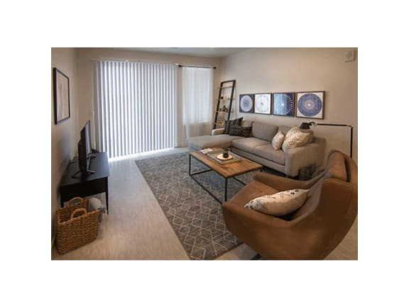 Remodeled Living Room at Cycle Apartments, Ft. Collins, Colorado