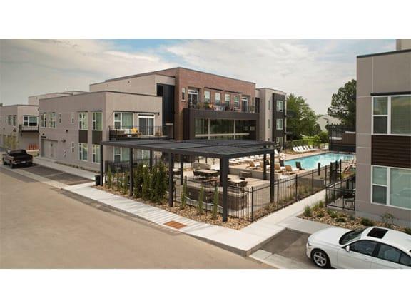 Resort-Style Pool at Cycle Apartments, Colorado