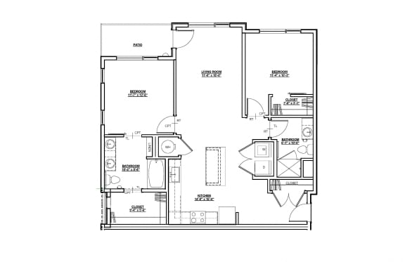 Magnolia Floor plan at Cycle Apartments, Ft. Collins