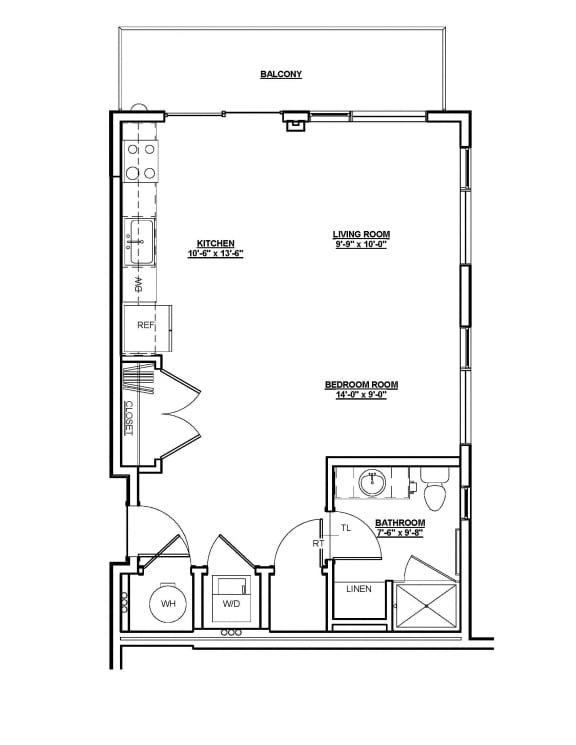Grant Floor plan at Cycle Apartments, Ft. Collins, CO 80525