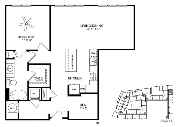 Coker Floor Plan at Berkshire Chapel Hill, Chapel Hill, NC, 27514