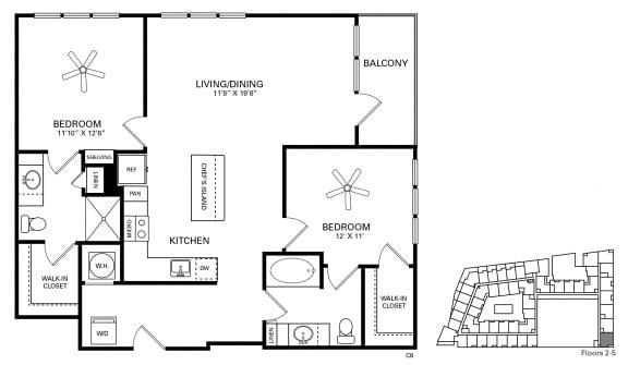 Forest Floor Plan at Berkshire Chapel Hill, Chapel Hill, NC