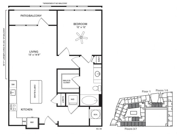Kenan ADA accessible Floor Plan at Berkshire Chapel Hill, Chapel Hill, 27514