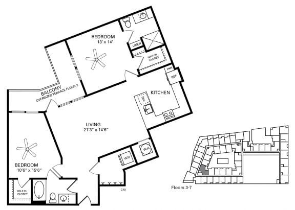 McCorkle Floor Plan at Berkshire Chapel Hill, North Carolina, 27514