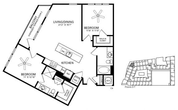 Moeser Floor Plan at Berkshire Chapel Hill, North Carolina, 27514