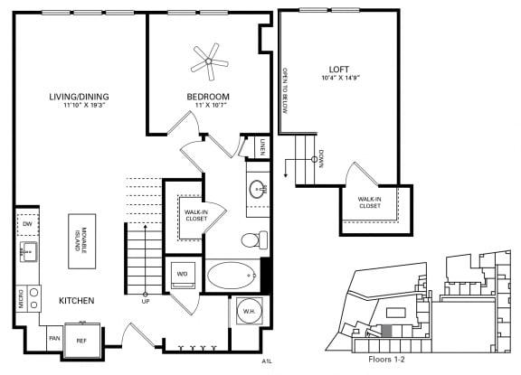 Morehead Floor Plan at Berkshire Chapel Hill, Chapel Hill, NC