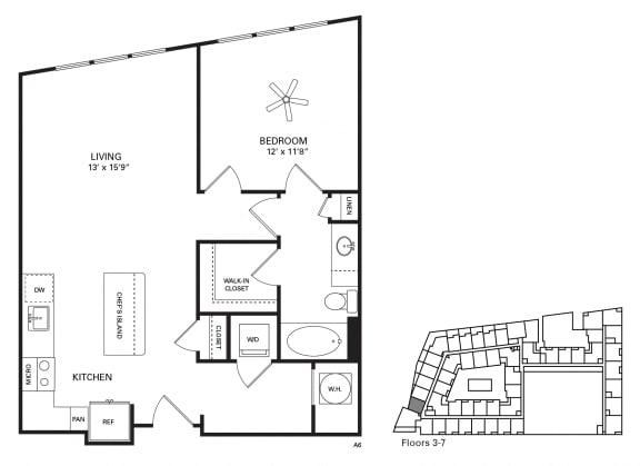 Poplar Floor Plan at Berkshire Chapel Hill, Chapel Hill, NC