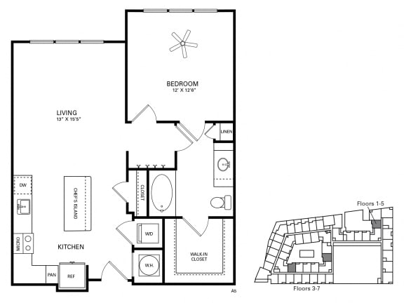 Smith Floor Plan at Berkshire Chapel Hill, Chapel Hill, North Carolina