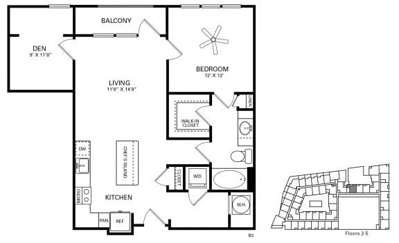 Wilson Floor Plan at Berkshire Chapel Hill, North Carolina, 27514