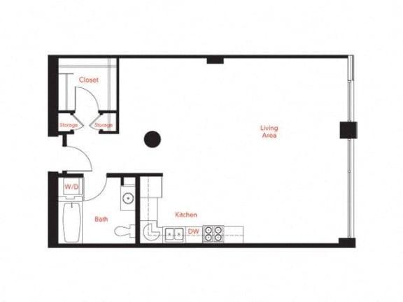 B-1 Floor Plan at Met Lofts, California, 90015