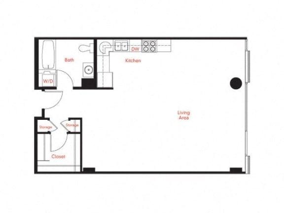 B-2 Floor Plan at Met Lofts, Los Angeles, CA, 90015