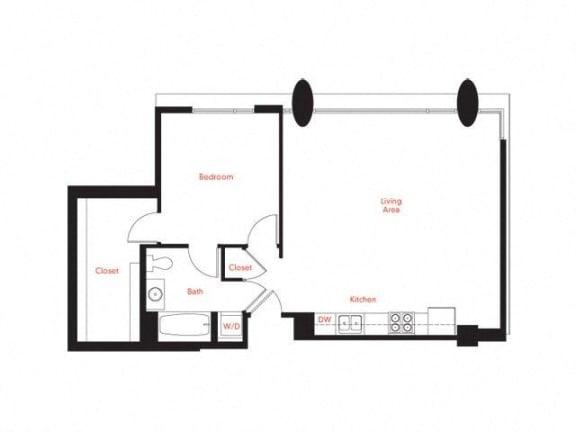 C-3 Floor Plan at Met Lofts, California