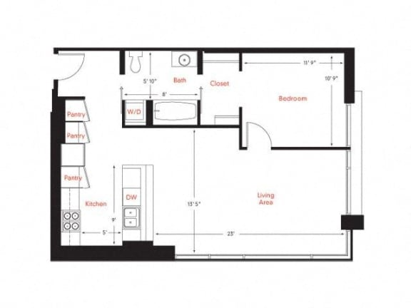 C-6 Floor Plan at Met Lofts, Los Angeles, 90015